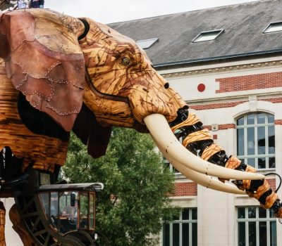 France, Pays de la Loire, Nantes, Machines of the Isle of Nantes, The Grand Elephant is the most popular attraction at the artistic, touristic and cul